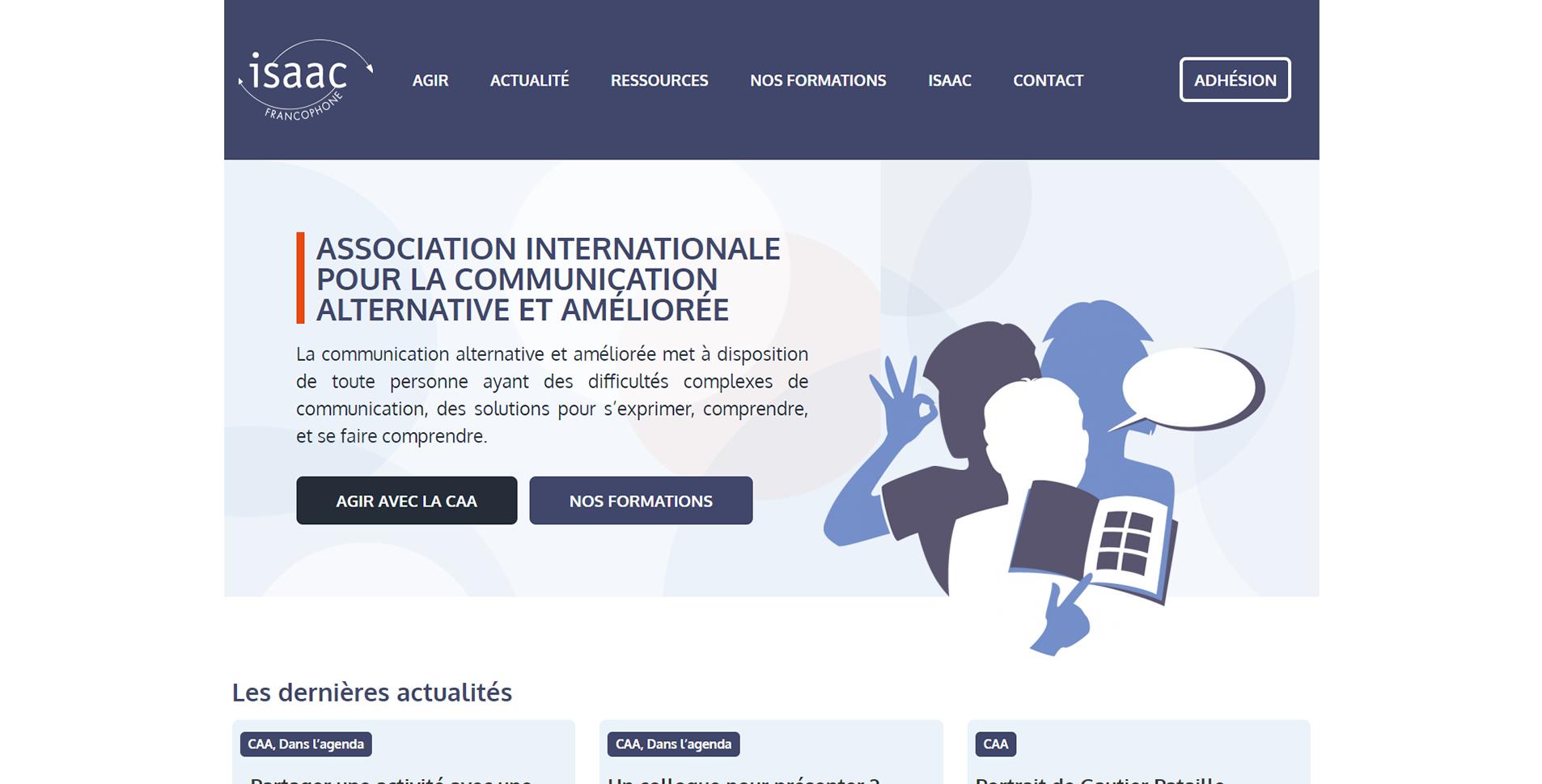 Image de la page d'accueil du site isaac-fr.org
