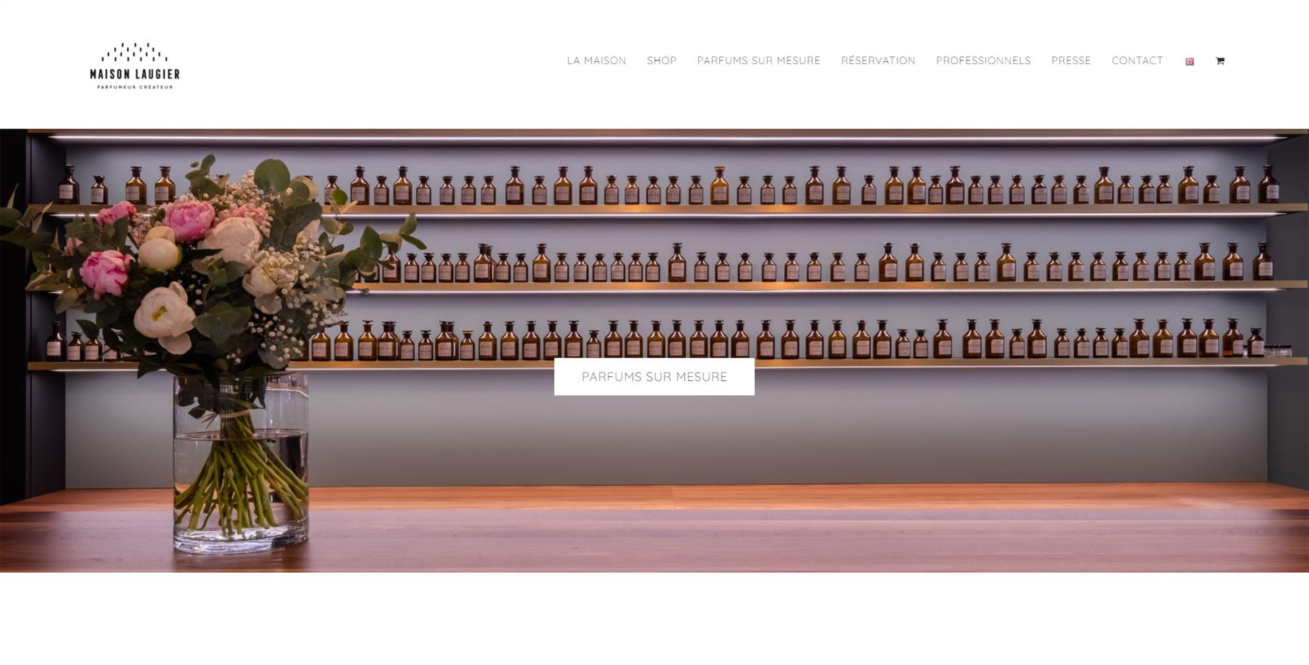 Image de la page d'accueil du site Maison Laugier
