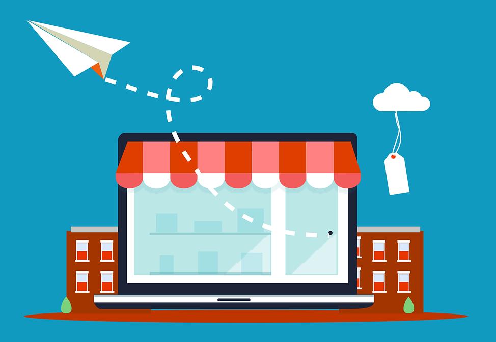 Illustration d'une boutique e-commerce